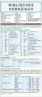 Biblisches Hebräisch Kurzgrammatik