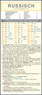 Russisch - Kurzgrammatik