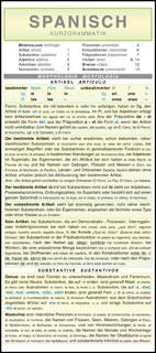 Spanisch - Kurzgrammatik