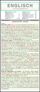 Englische Kurzgrammatik