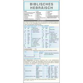 Biblisches Hebräisch - Kurzgrammatik