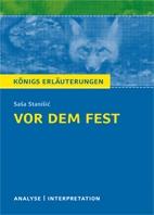 Königs Erläuterung: Vor dem Fest - Titelcover